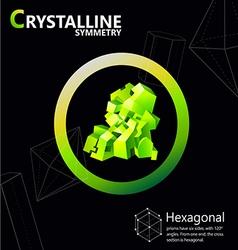 hexagonal 01 vector image vector image
