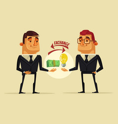 office worker man character sells the idea vector image vector image