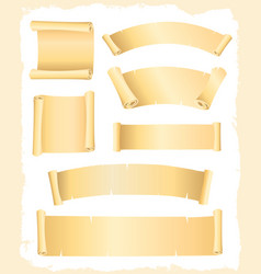 parchment scroll and banners vector image