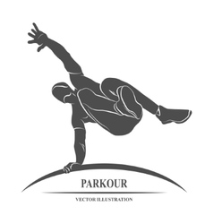 Parkour Jump Silhouette vector image