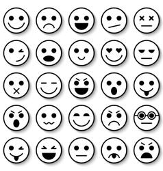 Set of Emoticons Set of Emoji vector image