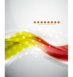 Smooth wave abstract background vector image