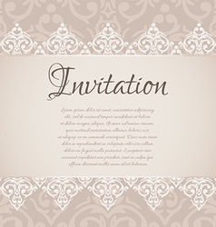 baroque damask luxury invitation vector image