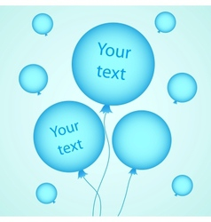 for your design with balloons vector image vector image