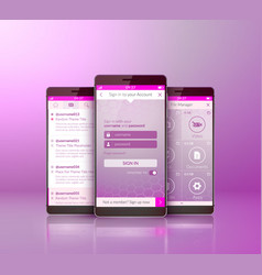 mobile application interface concept vector image vector image