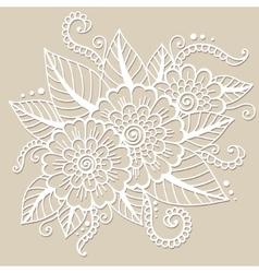 Oriental flower ornament vector image vector image