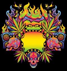 psychedelic cannabis vector image vector image