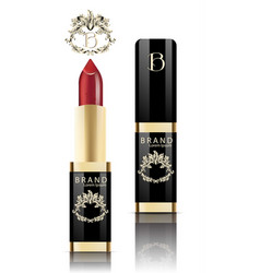 red lipstick realistic packaging mock up vector image vector image