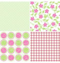 scrapbook patterns for design vector vector image