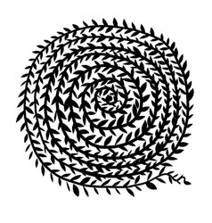 spiral ornament hand drawn sketch for your design vector image vector image