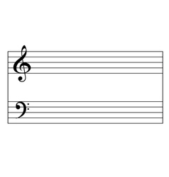 Standart Music Staff vector image