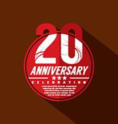 20 Years Anniversary Celebration Design vector image