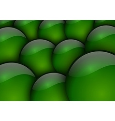 background circles green vector image vector image