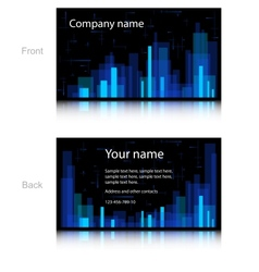 Black business card vector image