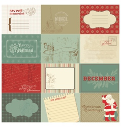 christmas vintage design vector image vector image