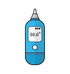 Ear thermometer for human body Flat color icon vector image