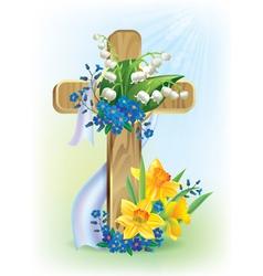 Easter cross vector