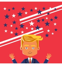 November 09 2016 poster caricature of Donald vector image