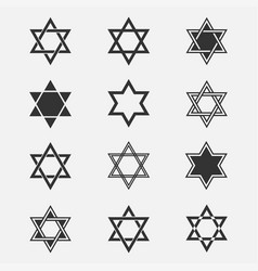 star of david set vector image vector image