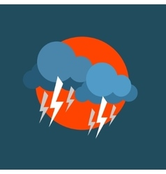 Strong Lightning Storm Natural Force Sticker vector image vector image