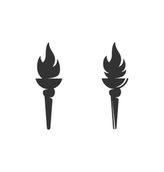 Torch Icon logo on white background vector image