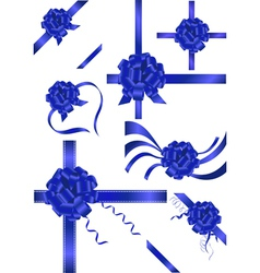 violet ribbons vector image vector image