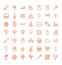 49 party icons vector image