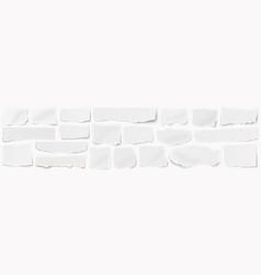 A long horizontal set torn pieces paper vector