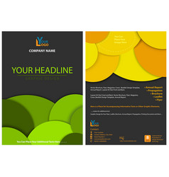 abstract graphic leaflet design with circles vector image
