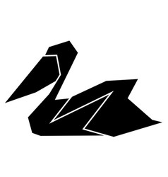 abstract low poly pelican icon vector image