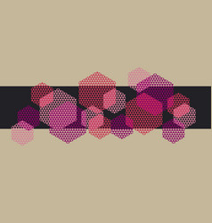 abstract pink hexagon with triangle texture vector image