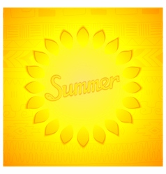 Abstract summer design vector