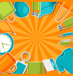 Advertising background with promotional gifts vector