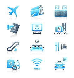 Airport icons - MARINE series vector