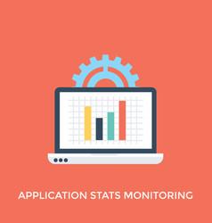Application statistic monitoring vector