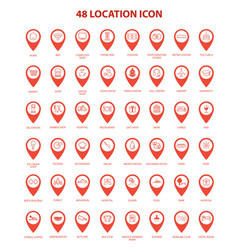 Artistic location icon set vector