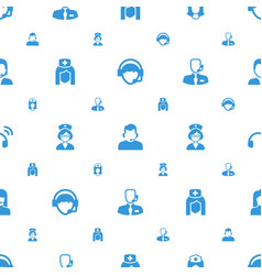 Assistant icons pattern seamless white background vector