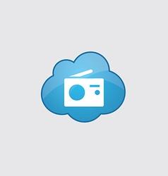 Blue cloud radio icon vector image