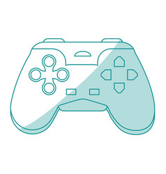 Blue silhouette shading control for video games vector