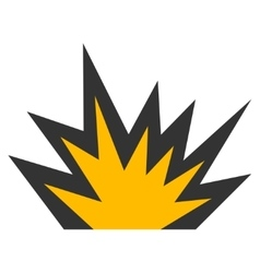 Boom Explosion Flat Icon vector