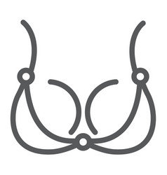 bra line icon underwear and woman lingerie sign vector image