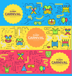 celebration festival holiday party equipment thin vector image