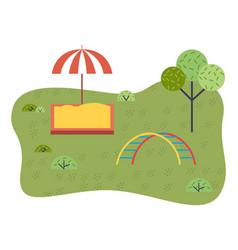 children s sandbox umbrella playground equipment vector image