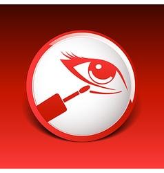 Closeup concealer stick under-eye circles facial vector image