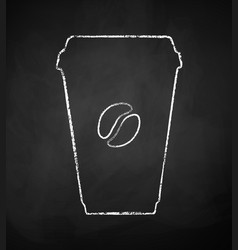 coffee paper takeaway cup vector image