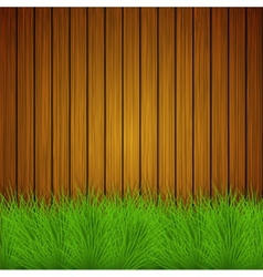 Creative grass on wooden background vector
