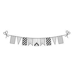 Decorations bunting flags for republic of artsakh vector