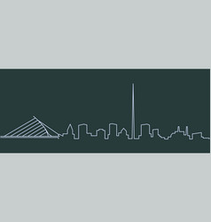 Dublin single line skyline vector