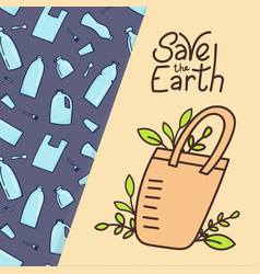 eco bag zero waste concept vector image
