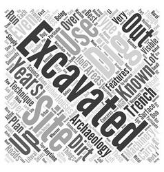 Excavation Word Cloud Concept vector image